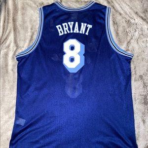 Kobe Bryant #8 Baby Blue/White Retro Lakers Jersey